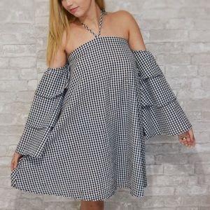 Tropical Cute Gingham Summer Dress